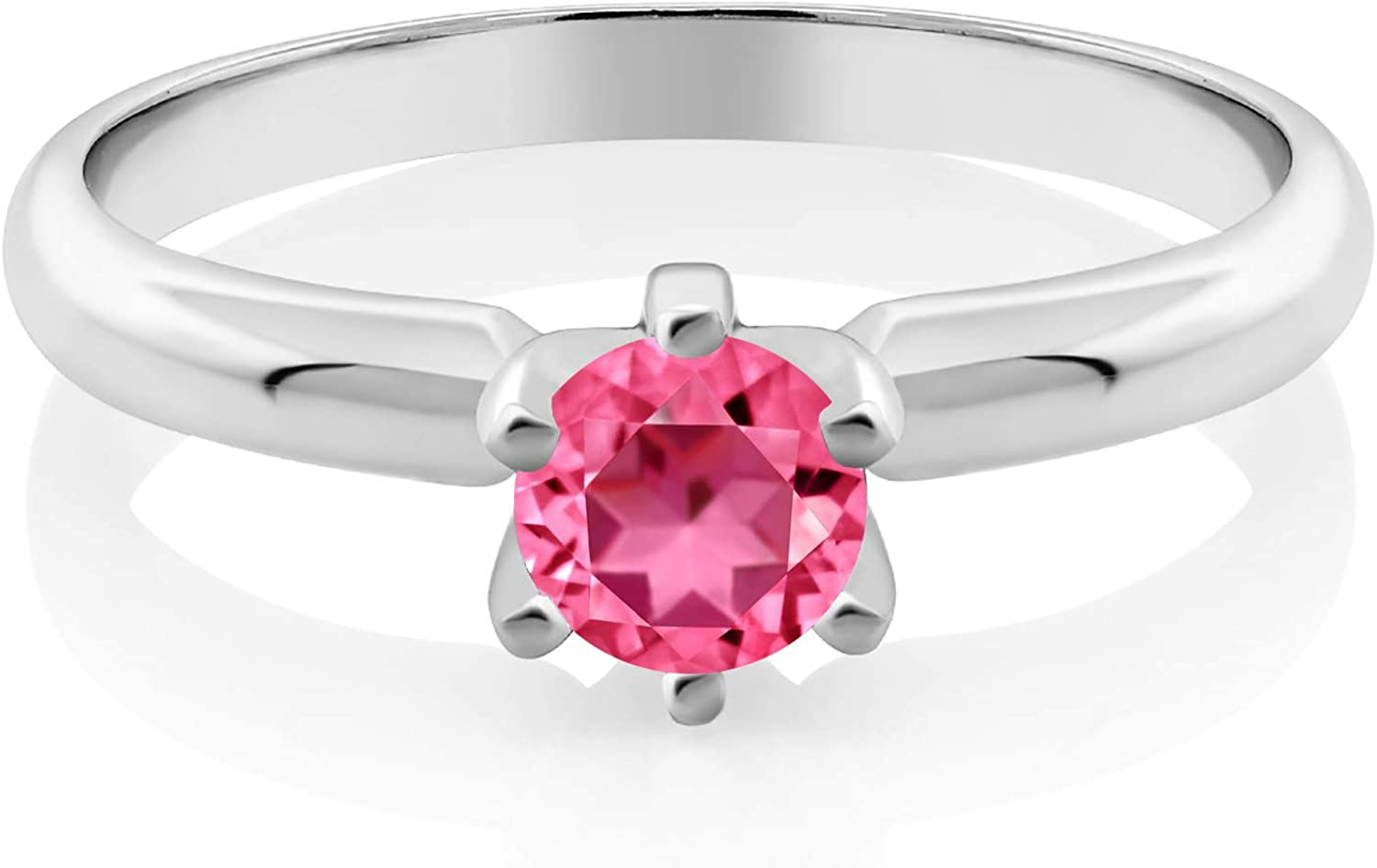 Gem At the price of surprise Stone King 925 Sterling Max 88% OFF Silver Set wi Ring 6-Prong Solitaire