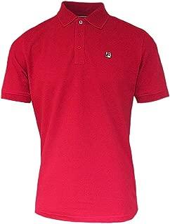 Mens Vintage White Line Red Classic Retro 80s Casual Brizzi Polo Shirt
