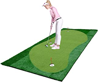 77tech Golf Putting Green System Professional Practice Green Long Challenging Putter Indoor/Outdoor Golf Simulator Training Mat Aid Equipment