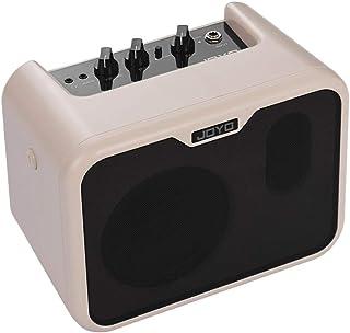 Muslady JOYO MA-10B Mini Altavoz Amplificador de Bajos Eléctrico Portátil 10Watt Amp Normal/Drive Canales Dobles con Adaptador de Corriente