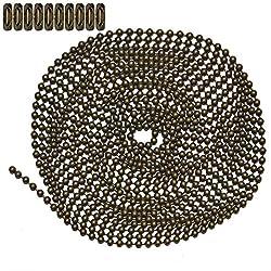 Ball Chain #3 Spool Aluminum 100 Feet Ball Chain Manufacturing Co #3SPOOL-ALUM-100 Inc