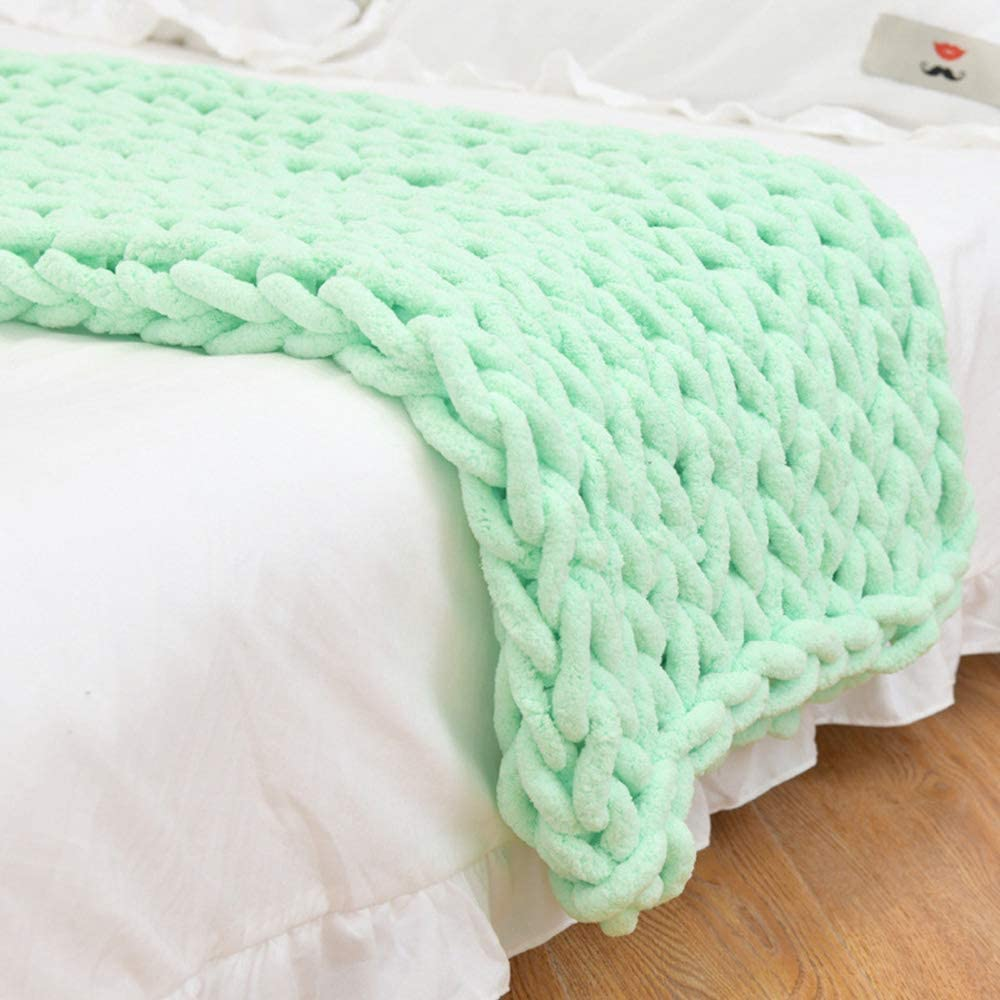 SZYW Large Chunky Knit Blanket - Knitted Chenille Max 59% OFF Super Jacksonville Mall Thr Soft
