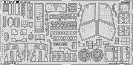 Eduard 1:48 F-4 B Exterior for Academy - PE Detail Set #48773