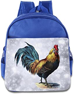 DiadsJun Vintage Rooster Boys Girls High-Grade School Backpacks RoyalBlue