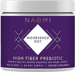 NAOMI High Fiber Prebiotic Fiber Supplement for Healthy Women Probiotics, Sugar Free Fiber Powder Supplement That Promotes...