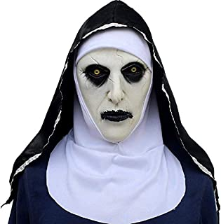 Nun Mask with Hood for Adult Horror Halloween Party Porp