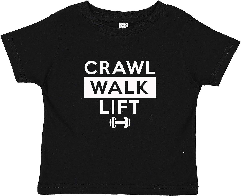 Crawl Walk Lift Body Builder Infant Baby Tee Shirt Assorted Colors (6M 12M 18M 24M)