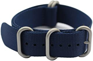Watch Band with 1.5mm Thickness Quality Nylon Strap and Heavy Duty Brushed Buckle