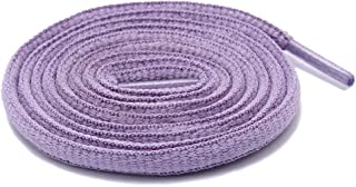 Half Round Shoe Laces for Sport/Casual/Trainer Sneaker [2 Different Lengths Thick 7 Colors]