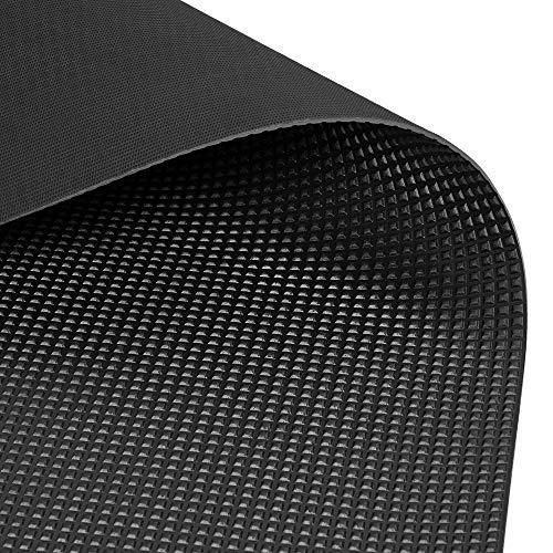 Kofferraum Antirutschmatte Gummimatte 1,2 x 2,0m (Pyramidenmatte), Schwarz, Materialstärke: 3mm