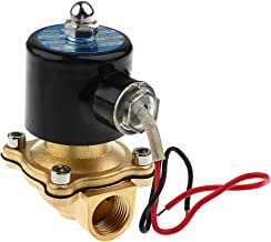 "Blesiya DC 12V 1/2""inch Brass Electric Solenoid Valve Water Air Fuel Gas Normally Closed"