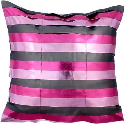 Amazon.com: Cobre cojines Cover, Metálico de piel Sparkly ...