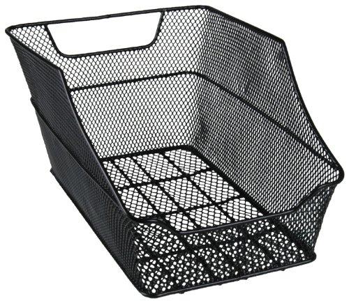 FISCHER Gepäckträgerkorb für Schultasche, engmaschig, schwarz, werkzeuglose Montage