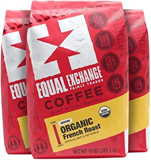 Sponsored Ad - Equal Exchange Organic Coffee, French Roast, Ground Bags, 10 Ounce (Pack of 3)
