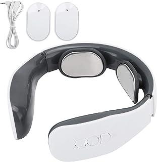 Masajeador de cuello de microcorriente, masajeador de cuello de pulso eléctrico con 4 modos 15 niveles de intensidad, 2 almohadillas de electrodos Masajeador inteligente de cuello de hombro