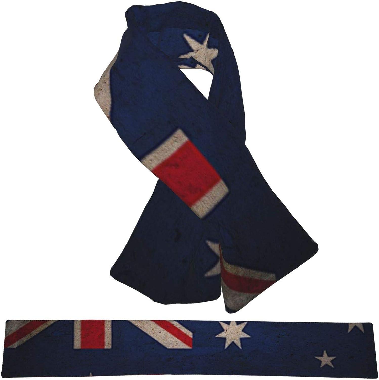 Winter Scarfs Vintage Australia Flag Scarves Wraps Neck Warmer Flannel Winter Cross Tie Scarves