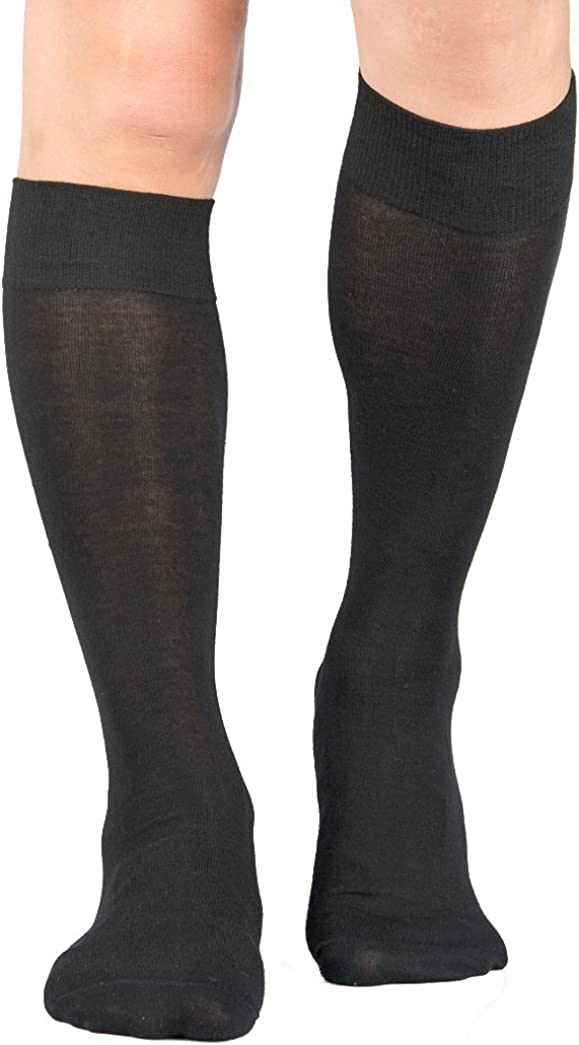 3 Pairs Men's Knee-High Dress Socks