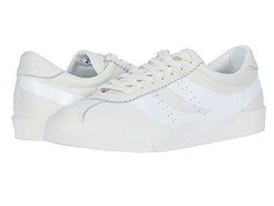 Superga 2843 Clubs Tumbled Leather U Logo (White) Women