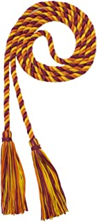 maroon and gold honor cords