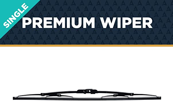 """AutoTex - M5 Premium Automotive Wiper Blade - Universal Replacement Windshield-Wipers - Aerodynamic Steel Frame - All-Weather - Single Blade (14""""): image"""