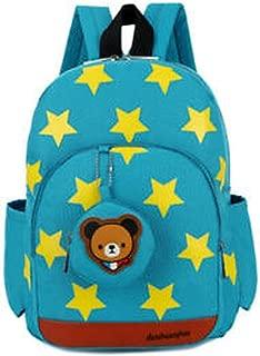 2019 Children Character Backpack Rucksack School Bag Personalised Star Pattern Zipper Kid Book Bag 4 Colors New,Green