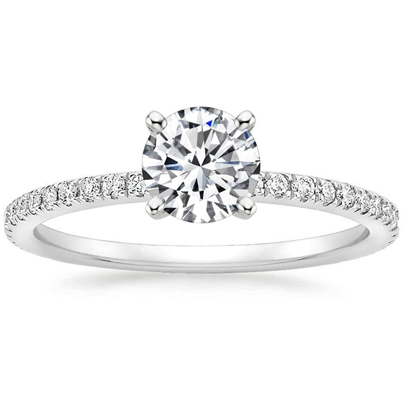 Lemon Grass 1 Ct Halo Solitaire Cubic Zirconia Promise Engagement Ring 925 Sterling Silver Ring Sizes 4 5 6 7 8 9