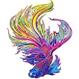 Wooden Puzzles for Adults, CLAORD Animal Shaped Puzzles for Adults, Unique Shape Puzzle Pieces Fish Puzzles Best Gift for Adults and Kids,10.8 x 13 in (27.5 x 33 cm) 189 pcs-M