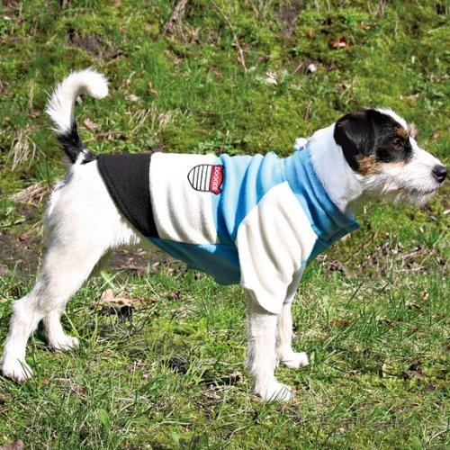 Trixie 30603 Toronto Pullover, S: 40 cm, blau / weiß / schwarz