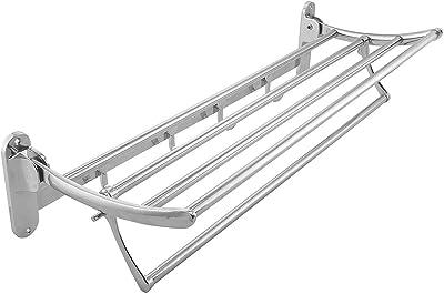 "Anirdesh Stainless Steel Multipurpose and Folding Towel & Napkin Rack for Bath & Sink (24"" Inch)"