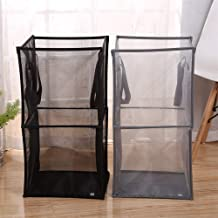 Clothes hamper Mesh Foldable Kitchen Laundry Hamper Basket Dirty Clothing Organizer Book Underwear Container Bin hampers f...