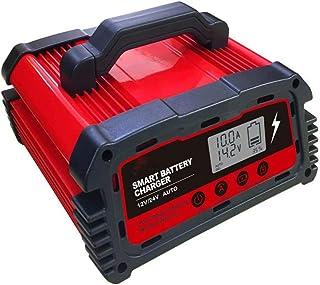 Bilbatteriladdare 12V automatisk smart batteriladdare/underhåll med LCD-skärm Pulsreparation 24V universalladdare, DC200