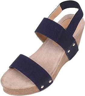 Feversole Women's Comfortable Fashion Cork Wedge Sandals