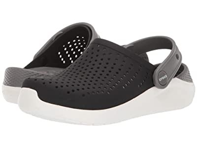 Crocs Kids LiteRide Clog (Little Kid/Big Kid) (Black/White) Kid
