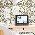 RoomMates RMK10687WP Shatter Geometric Peel and Stick Wallpaper
