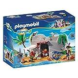 PLAYMOBIL Super 4 Pirate Cave Juego de construcción - Juguetes de construcción (Juego de construcción, Multicolor, 5 año(s), Niño)