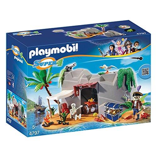 PLAYMOBIL Super 4 Pirate Cave Juego de construcción