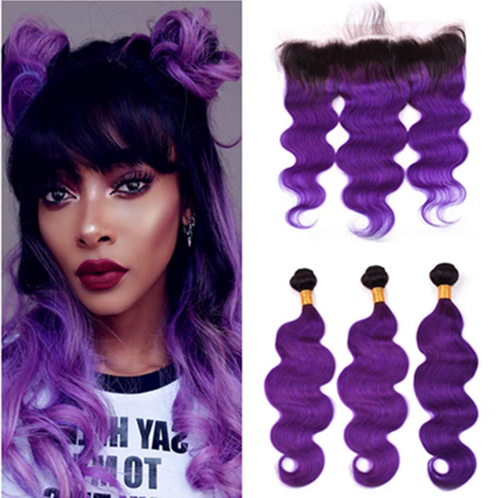 Tony Beauty Hair Dark Roots Body サービス Ombre Wave Bundles Purple デポー