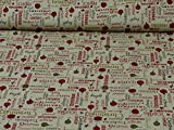 Baumwollstoff Christmas von Rammelkamp, Weihnachtsdruck,