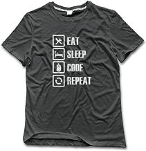 Men's Eat Sleep Code Repeat Cotton Vintage T Shirts