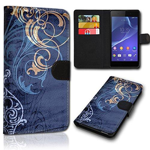 sw-mobile-shop Book Style HTC One M8 / One M8S Tasche Flip Brieftasche Handy Hülle Kartenfächer für HTC One M8 / One M8S - Design Flip SVH140