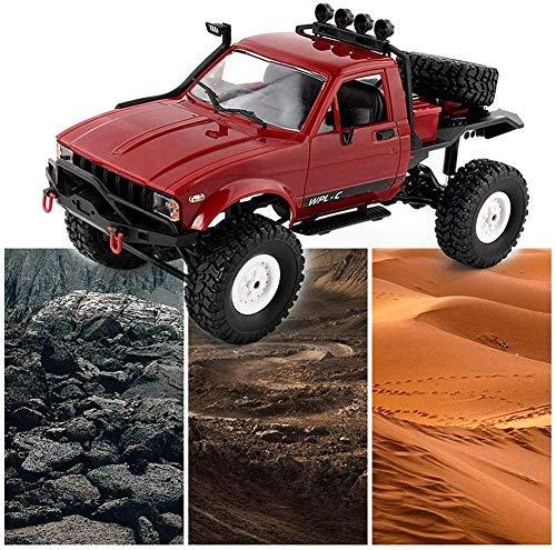 SXLCKJ Coches RC 2.4Ghz Alta Velocidad 20 KM/H RC Truck/Monster Truck Escala 1/16 4WD Off-Road Control Remoto Coche Mejor RC Buggy Toy f (Coche Inteligente)