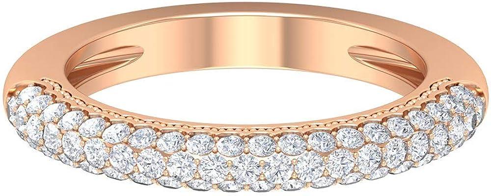 Classic Eternity Ring HI-SI 0.82 Cluster Diamond Max 56% Topics on TV OFF Ct Vinta