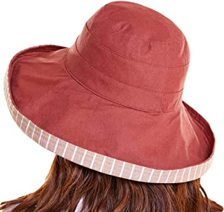 Santwo Women Floppy Sun Bucket Hat UPF 50+ Summer Beach Sun Visor Cap Wide Brim