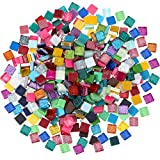 400 Piezas/ 300 g de Azulejo de Mosaico de Colores Variados Mosaico de Cristal Brillante D...