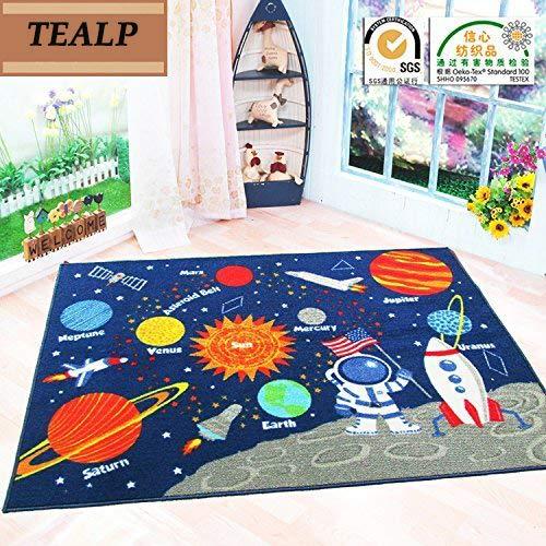 TEALP Planet Carpet Tapis extérieur pour chambre d