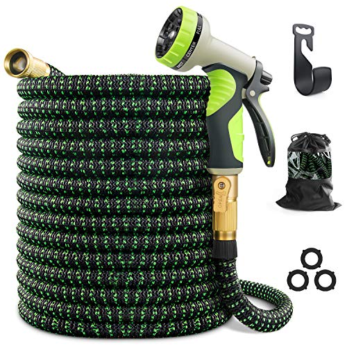 VIENECI 100ft Garden Hose Expandable Hose, Durable Flexible Water Hose, 9 Function Spray Hose...