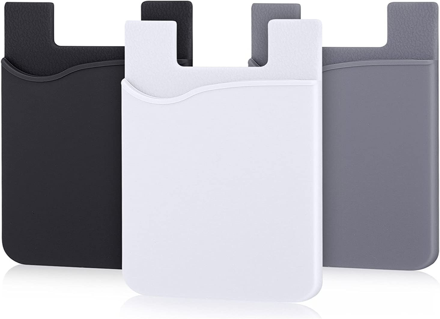 AgentWhiteUSA Cell Phone Wallet, Stick on Wallet (3 Pieces) (for Credit Card, Business Card & Id)   Compatible with Almost Every Phone   iPhone, Android & Most Smartphones