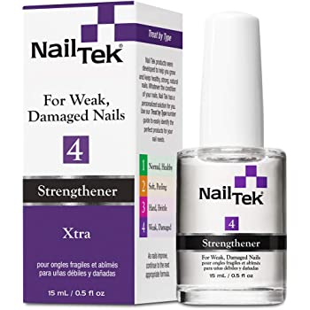 Nail Tek Xtra 4, Nail Strengthener for Weak and Damaged Nails, 0.5 oz, 1-Pack