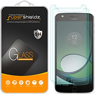 (2 Pack) Supershieldz for Moto Z Play and Moto Z Play Droid Tempered Glass Screen Protector, Anti Scratch, Bubble Free