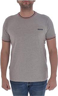 Lambretta Mens Tipped Pique Casual Crew Neck Short Sleeve T-Shirt Top Tee